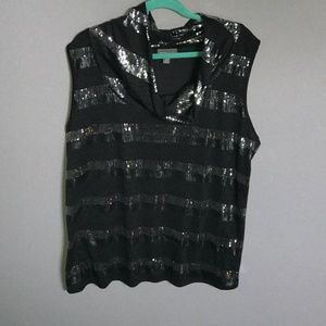 Roz and Ali Sequinned Sleeveless Shirt Size 2X
